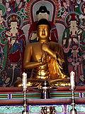 Gilt-bronze Vairocana Buddha at the Bulguksa Temple, a National Treasure of South Korea