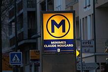 L'édicule de la station Minimes - Claude Nougaro.