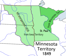 Location of Minnesota Territory