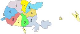 Raions of Minsk
