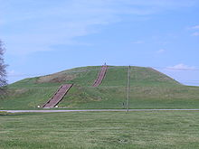 Un tertre à Cahokia : Monks Mound