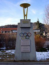 Le monument des jeux olympiques d'hiver de 1968.