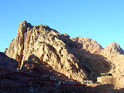 Vue du sommet du mont Sinaï.