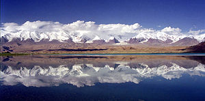 Mt Kongur Lake Karakul Xinjiang China.jpg