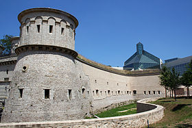 Luxembourg Castle — The reconstructed Fort Thüngen, formerly a key part of Luxembourg City's fortifications, now on the site of the Mudam, Luxembourg's museum of modern art.