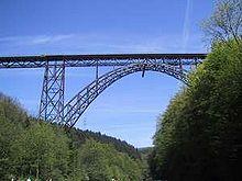 Le pont Müngsten sur la Wupper.