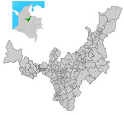 Ubicación de Chiquinquirá en Boyacá