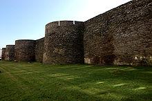 Remparts de la muraille romaine de Lugo.