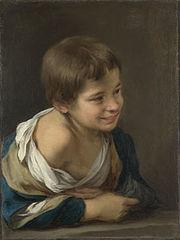 Niño riendo asomado a la ventana, hacia 1675, Londres, National Gallery.