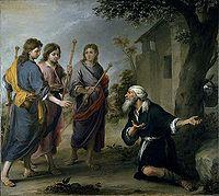 Abraham y los tres ángeles, Ottawa, National Gallery.