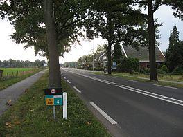 De N733 tussen Oldenzaal en Lonneker