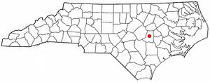 Location of Goldsboro, North Carolina