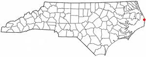 Location of Rodanthe, North Carolina