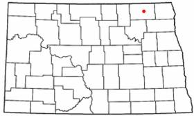 Carte du comté de Langdon