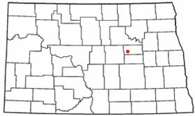 Carte du comté de New Rockford