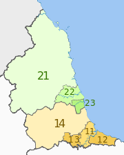 NUTS 3 regions of North East England map.svg
