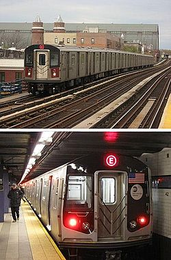 NYC Subway R142 on the 4 R160A on the E.jpg