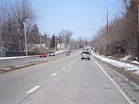 NY 590 north at Pt Pleasant Rd March 08.jpg