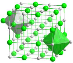 Structure cristalline du fluorure de potassium