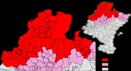 Carte de la zone bascophone