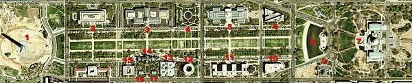 2002 satellite image of National Mall (east)
