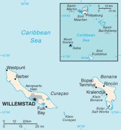 Mapa Antillas Neerlandesas
