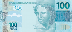 100 reais banknote of the latest series,announced February 2010. Issued on December 13, 2010. [1][2]