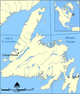 Newfoundland (island) is located in Newfoundland