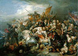 Bataille des éperons d'or (étude), Nicaise de Keyser, 1836