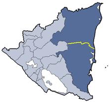 Location of Zelaya department