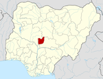 Map of Nigeria highlighting the Federal Capital Territory