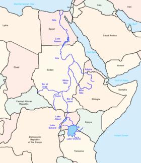 Localización del río Nilo