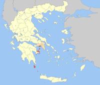 Ubicación de la unidad periférica en Grecia.