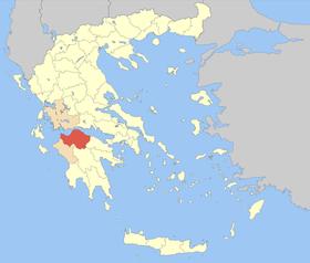 Carte de l'Achaïe
