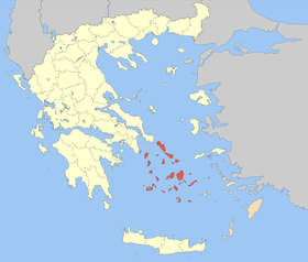 Carte des Cyclades