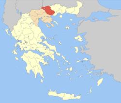 Carte du Nome de Serrès