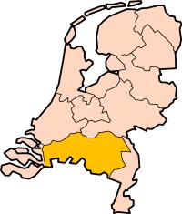 Map: Provincie Noord-Brabant in Nederland