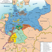 Map of the North German Confederation