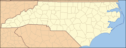 Location of South Mountains State Park in North Carolina