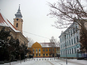 Le centre de Novi Bečej