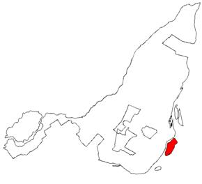 Situation de l'île des Sœurs