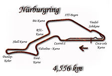The Nürburgring in its 1997 configuration