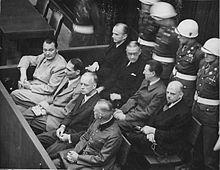 Defendants at the Trial of Major War Criminals