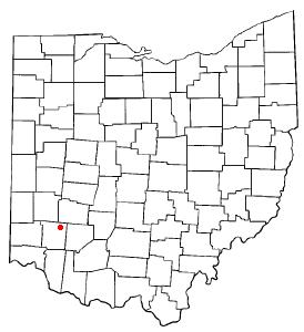 Location of Waynesville, Ohio