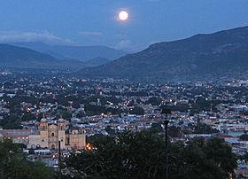 A view of city of Oaxaca de Juarez from the Cerro de Fortín.