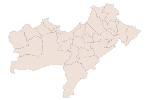 Carte de la wilaya d'Oran
