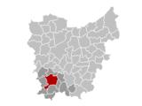 Situation de la ville au sein dela province de Flandre orientale. Anciennement AUDENARDE /AUDENAERDE .