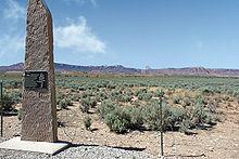 Photographie de Paria, une ville fantôme où a eu lieu le tournage de Josey Wales; c'est en fait un vaste désert