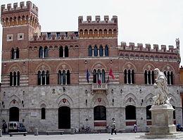 Palazzo Aldobrandeschi, sede della Provincia.