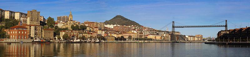 Panoramique avec le plus emblématique de Portugalete.